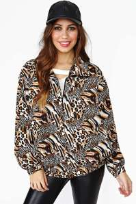 Feeling Catty Bomber by Nasty Gal